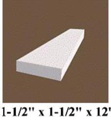 12 Ft White Vinyl Trim Plank Moulding 2x2 Vinyl Trim White Vinyl Vinyl