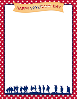 Free Page Borders And Frames Veterans Day Veterans Day Clip Art Veteran