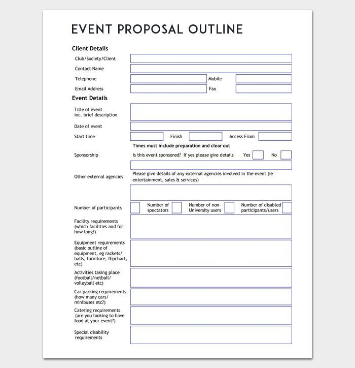 Event Proposal Outline Template Word Doc -   8 Event Planning Template tips