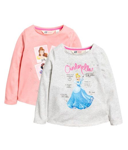 Long-sleeved princess tees, size 2-4Y - hm.com