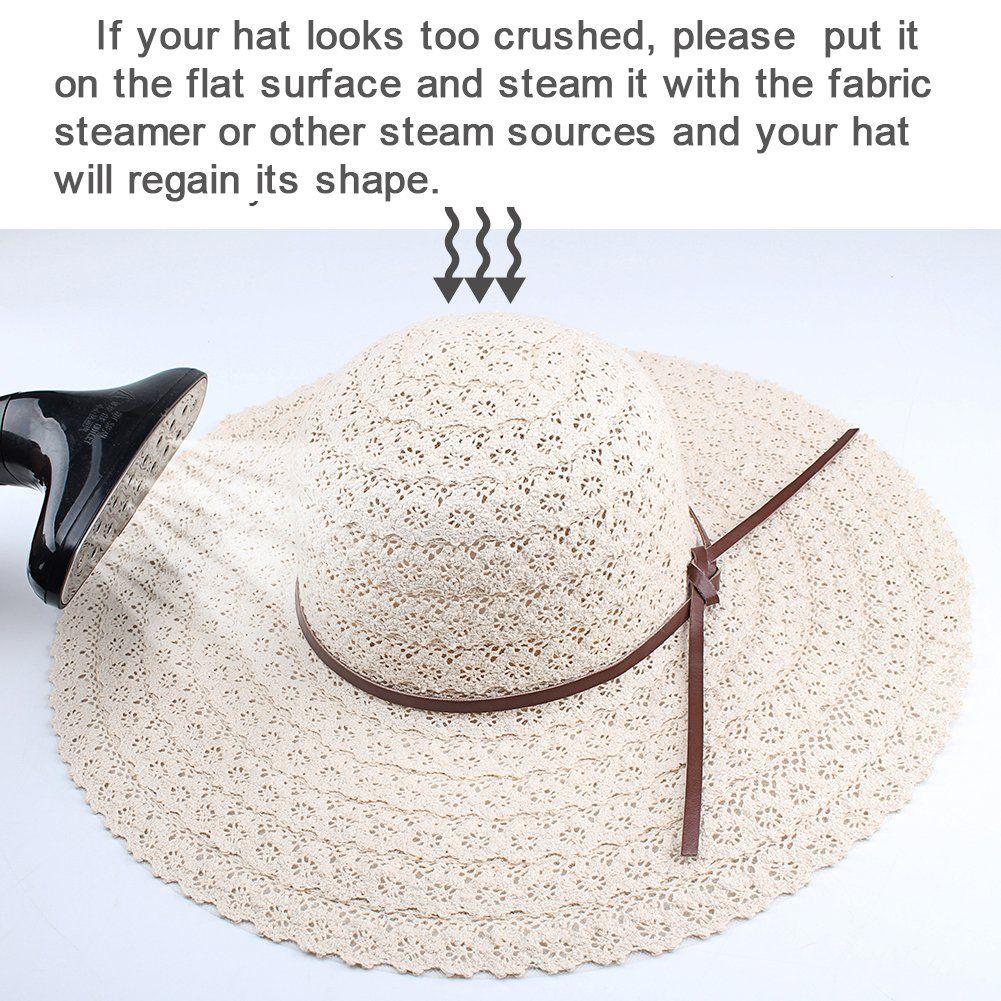 Summer Beach Sun Hats For Women - FURTALK UPF Woman Foldable Floppy Travel  Packable UV Hat b5d333f0f