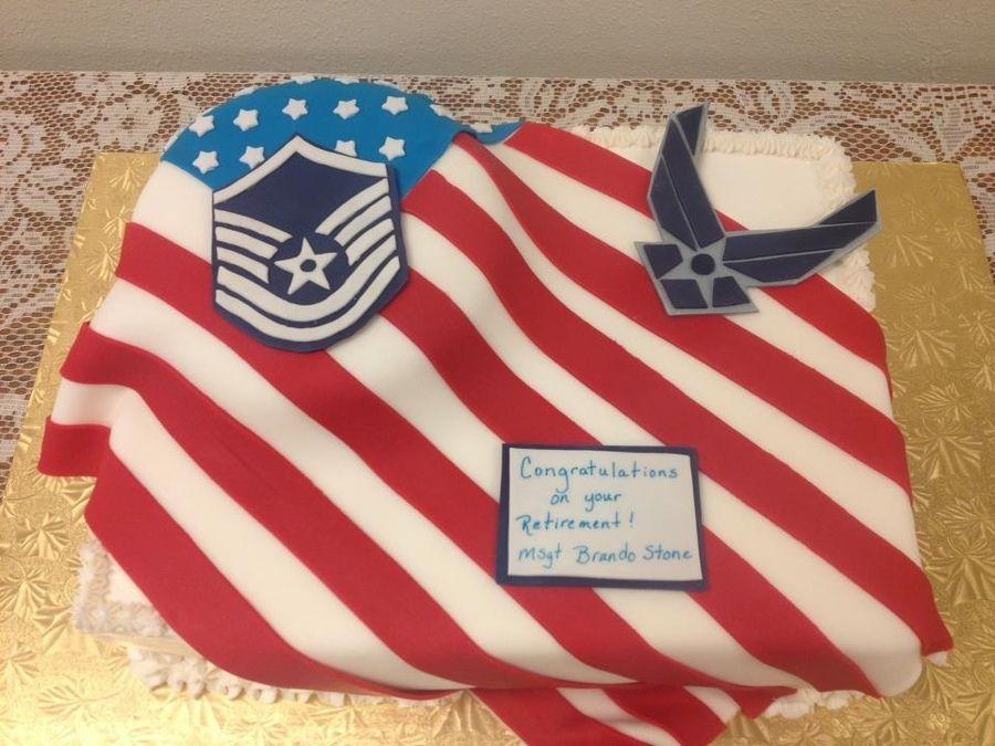 Air Force Retirement Cake cakepins.com
