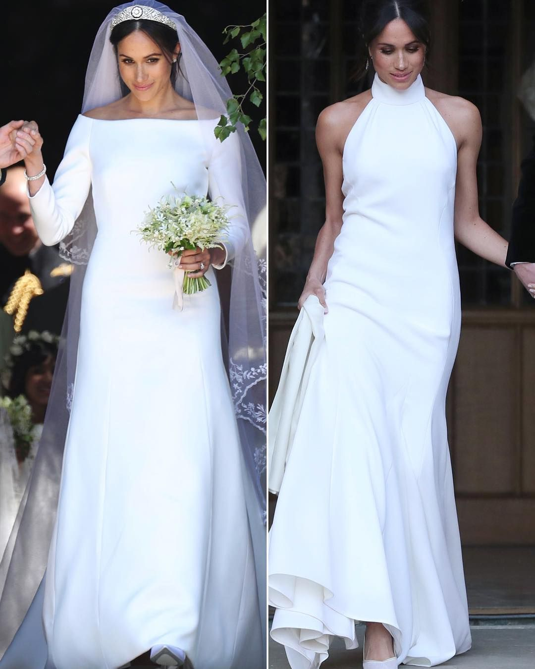 Reception dresses for royal wedding  Which gown of Meghan Markleus was your fave The ceremony by
