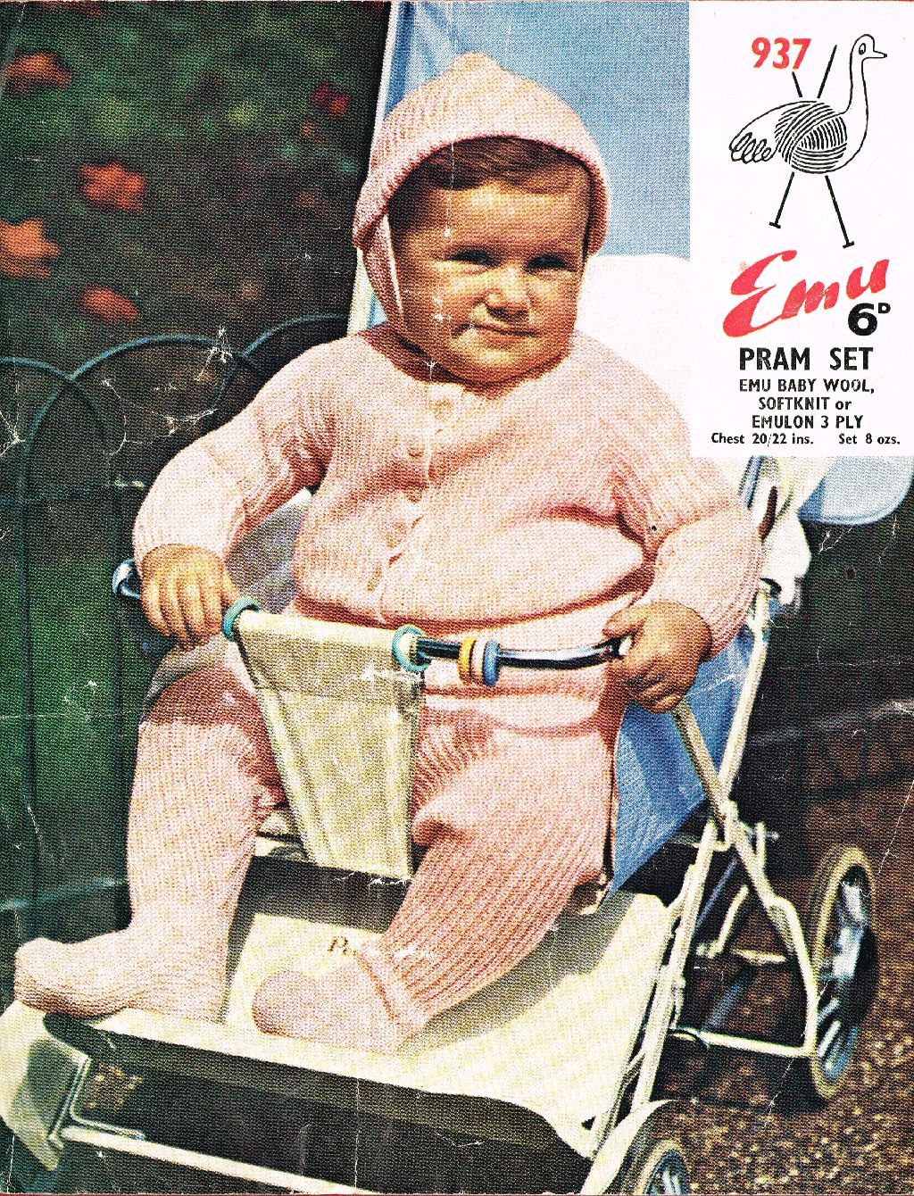 Emu 937 vintage baby knitting pattern  https://www.facebook.com/groups/463649903783886