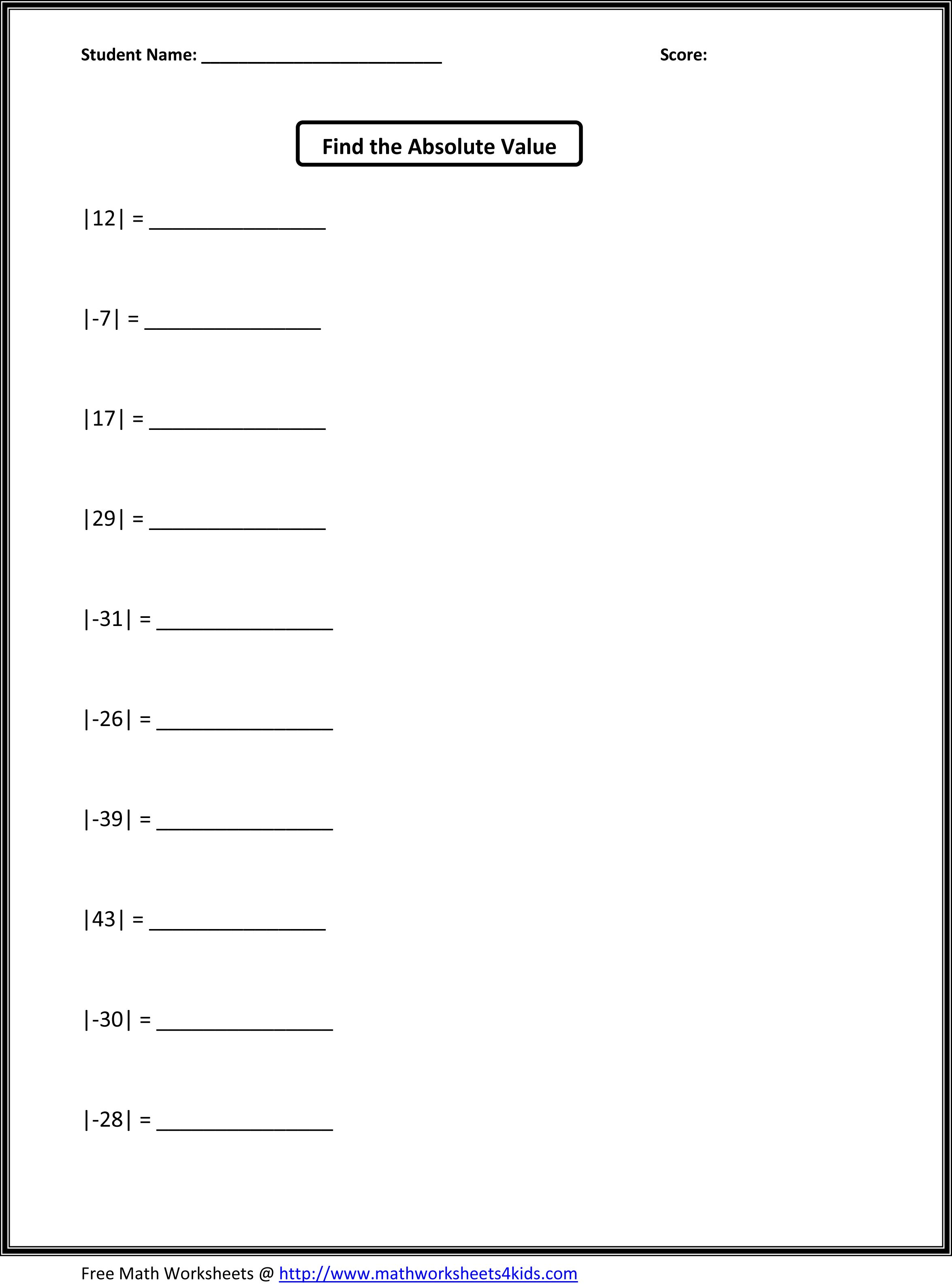 Fifth Grade Math Worksheets Jason School Ideas