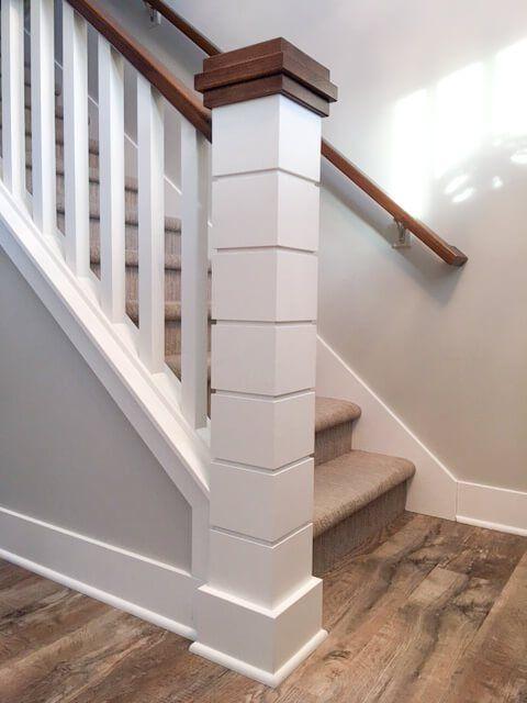 Shiplap Newel Post Stairs Railing Column Www Harvarddesign