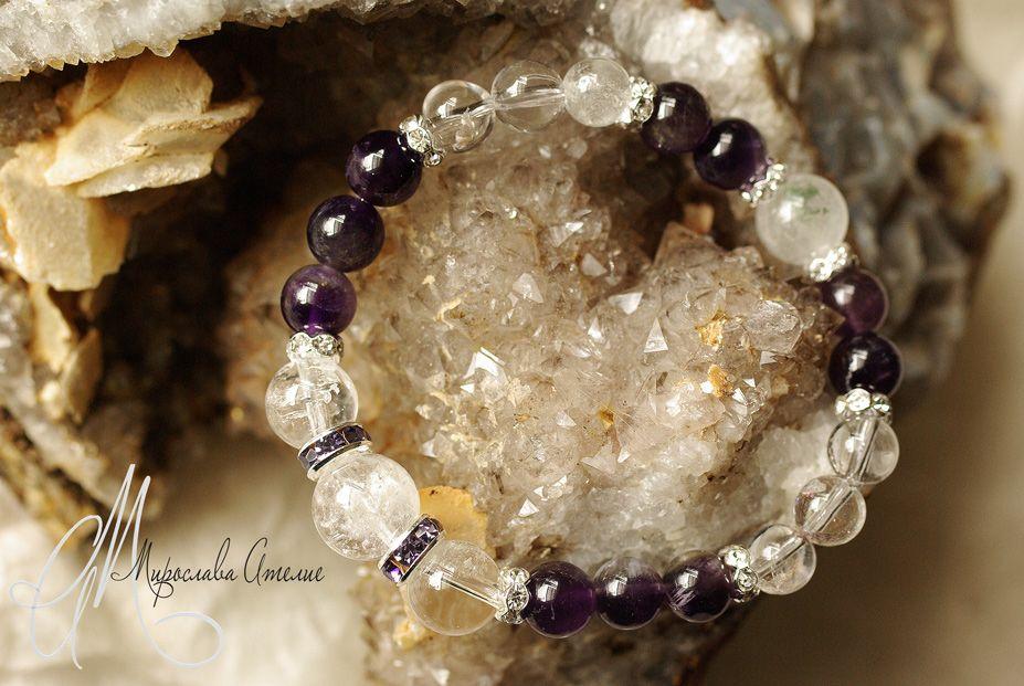 Clear quartz and amethyst
