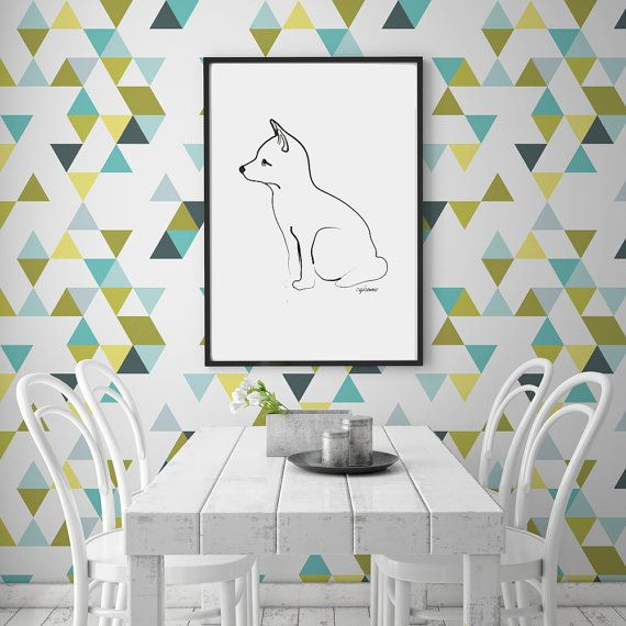 Hey, I found this really awesome Etsy listing at https://www.etsy.com/listing/266847552/triangle-wallpaper-peel-stick-triangles