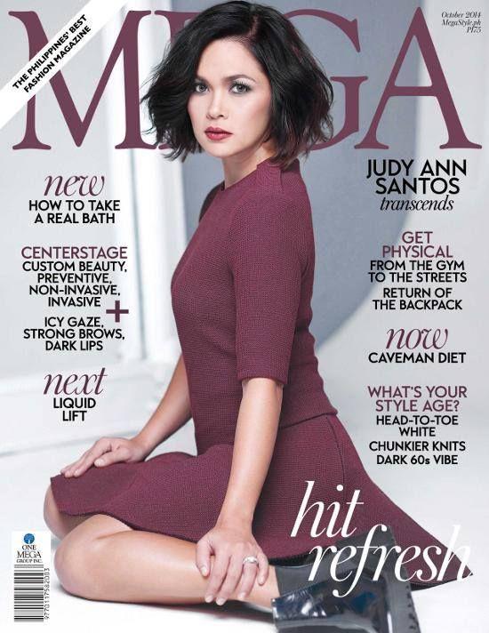 Judy Ann Santos Mega Magazine Cover Philippines October 2014 Santos Short Wavy Hair Anne
