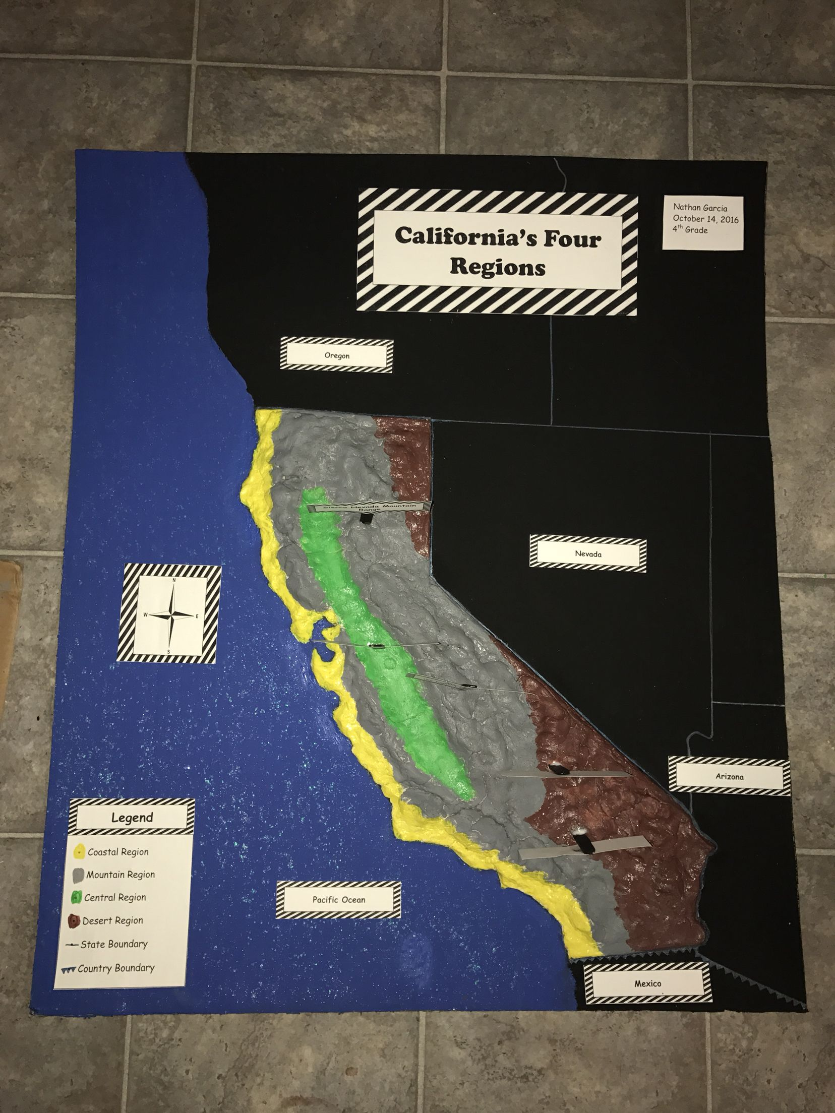 Fourth Grade Relief Project California S Four Regions