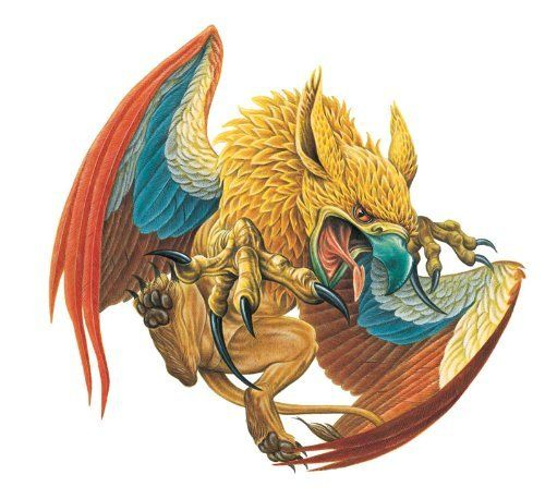 """Mythical Monsters Wall Decals Griffin 12"""" Removable Wall"""