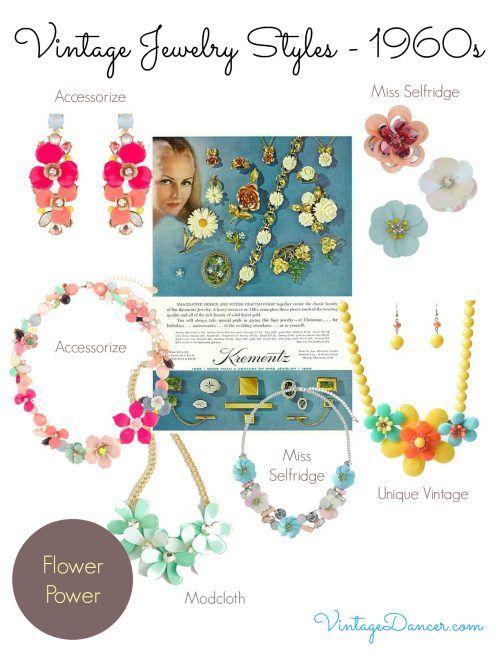 1960s Jewelry Styles And Trends To Wear 1960s Jewelry Accessories Diy Jewelry Vintage Jewelry Art