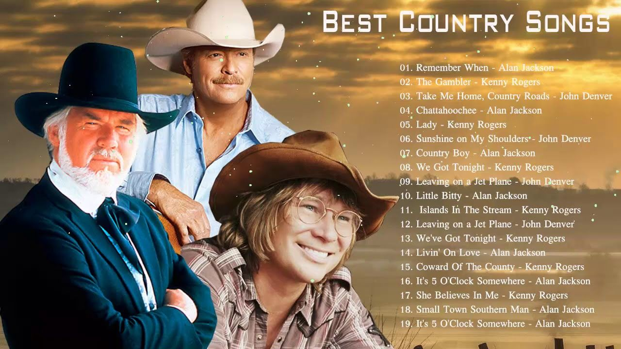 Best Classic Country Songs Kenny Rogers Alan Jackson John Denver