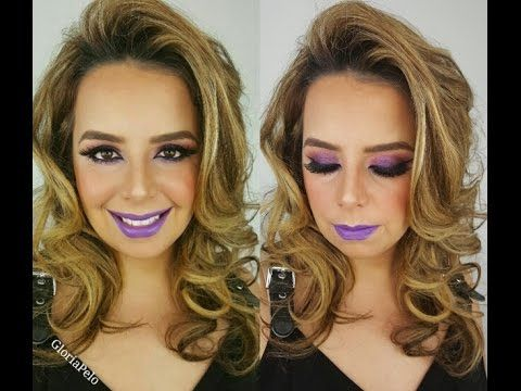 Photo of Maquillaje Fiestas Eventos Amirellado Morado
