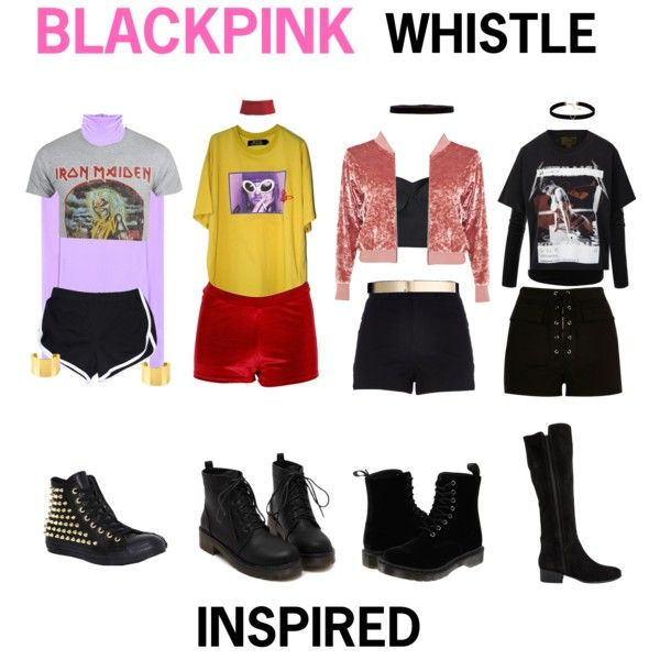 BLACK PINK - WHISTLE #2 by kariina-sykes on Polyvore featuring mode Vetements adidas NEO J ...