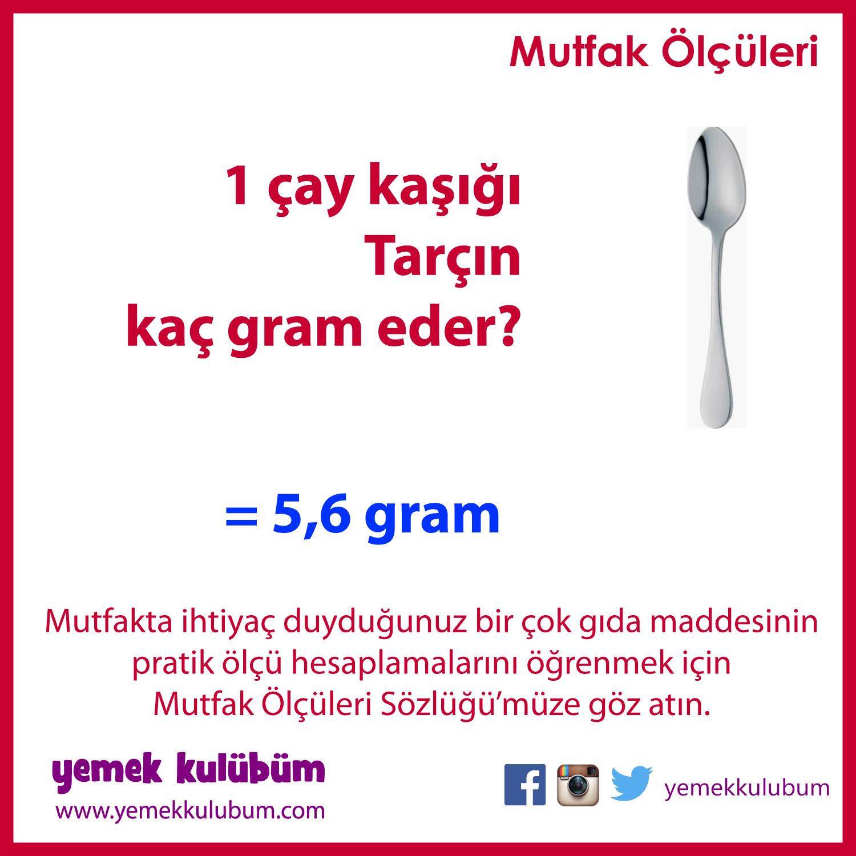 PRATİK MUTFAK ÖLÇÜLERİ : Bir çay kaşığı Tarçın kaç gram eder?    http://yemekkulubum.com/icerik_sayfa/kasik-olculeri