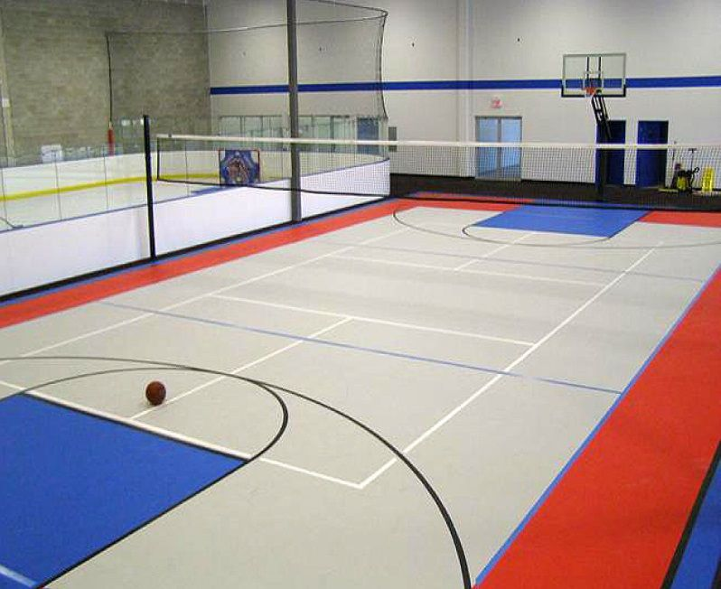 You Can Also Create A Private Indoor Sports Field Top Joy Can Do It Home Basketball Court Basketball Court Flooring Basketball Court