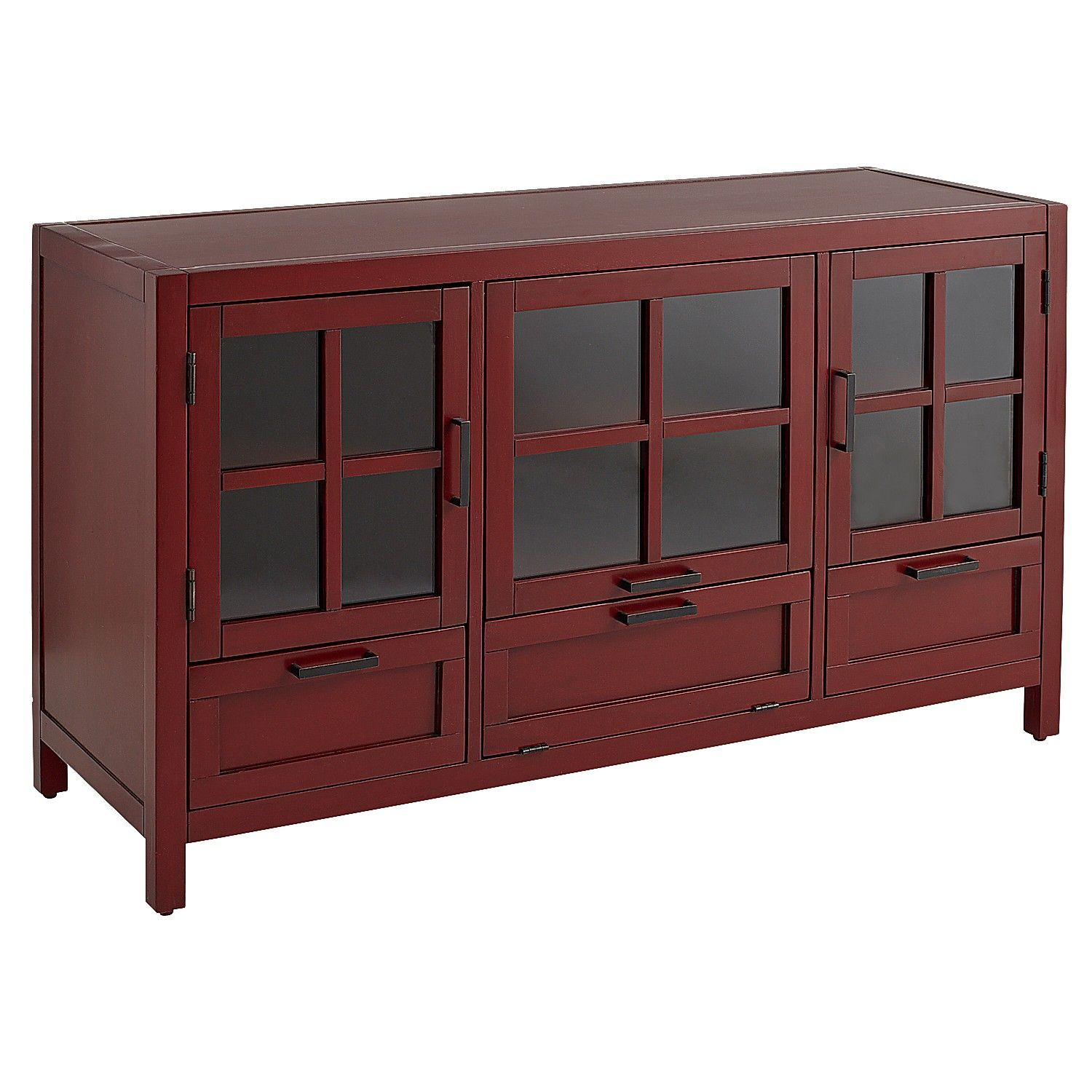 Sausalito antique red modular 52 tv stand