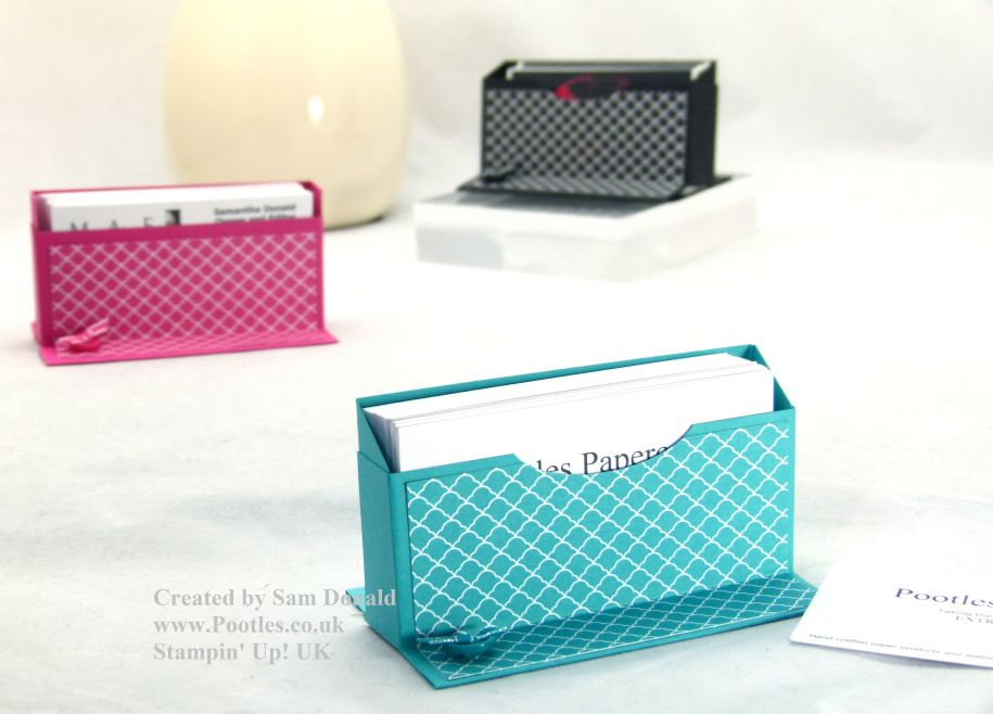 Stampin' Up! UK Business Card Holder Tutorial VIDEO