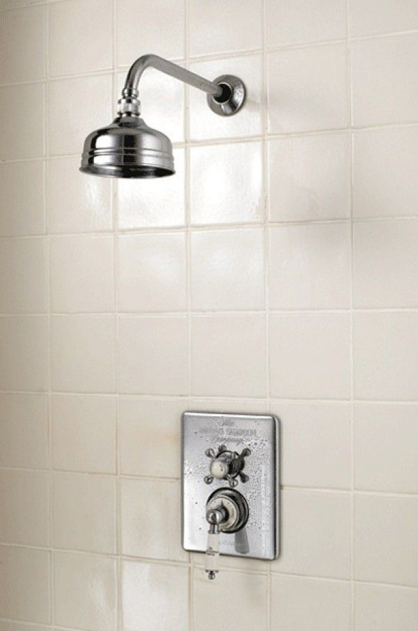 Imperial Concealed Victorian Thermostatic Dual Control Valve With Shower  Arm U0026 5 Inch Flowmaster Shower Head