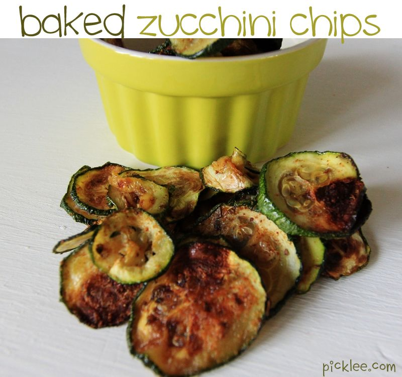 HEALTHY CHIPS! Baked Zucchini Chip Recipe!