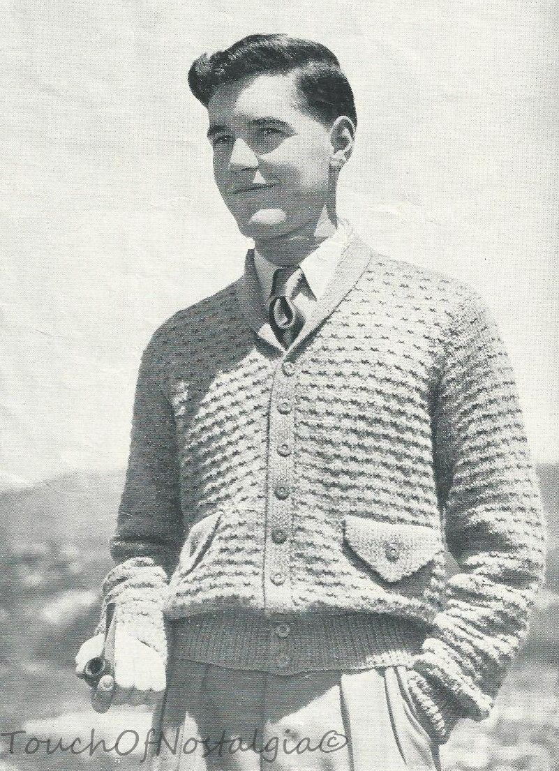 Men S Cardigan Vintage Pattern C 1940s 1940s Mens Fashion Vintage Mens Fashion Mens Fashion Jeans