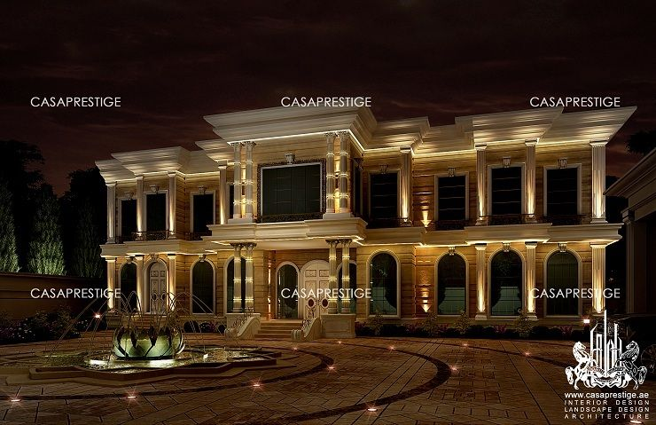 Palace exterior design dubai luxury residence for Palace design homes