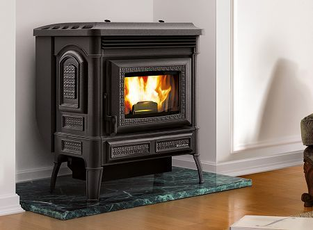 Extraflame Teodora Cast Iron Room Heating Wood Pellet Stove Pellet Stove