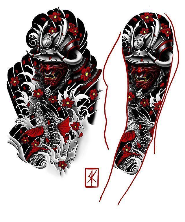 Photo of Croquis de tatouage de manche d'Irezumi réalisé pour @truegritjj Merci de votre confiance …