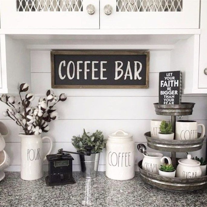 Photo of DIY Coffee Bar Ideas – Stunning Farmhouse Style Beverage Stations for …