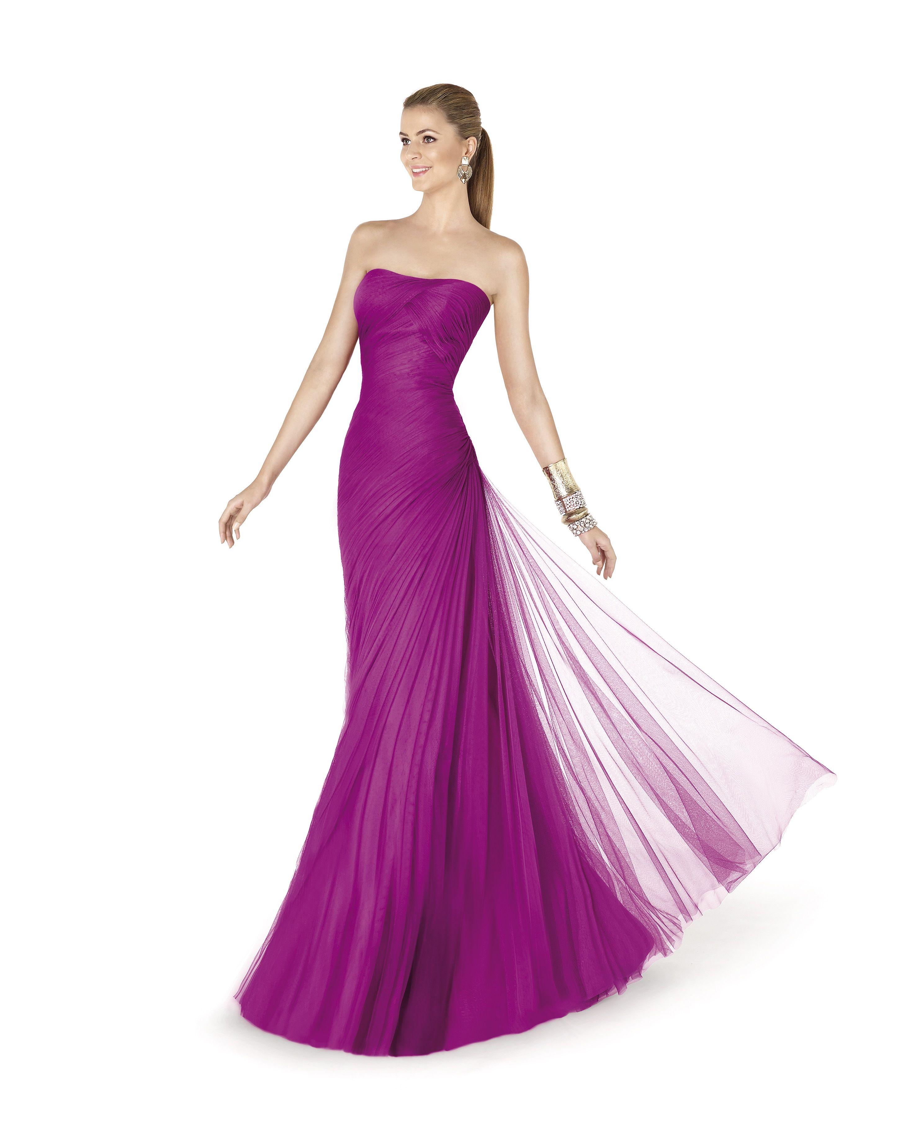Afin (Vestido de Fiesta). Diseñador: Pronovias. ... | Vestidos de ...