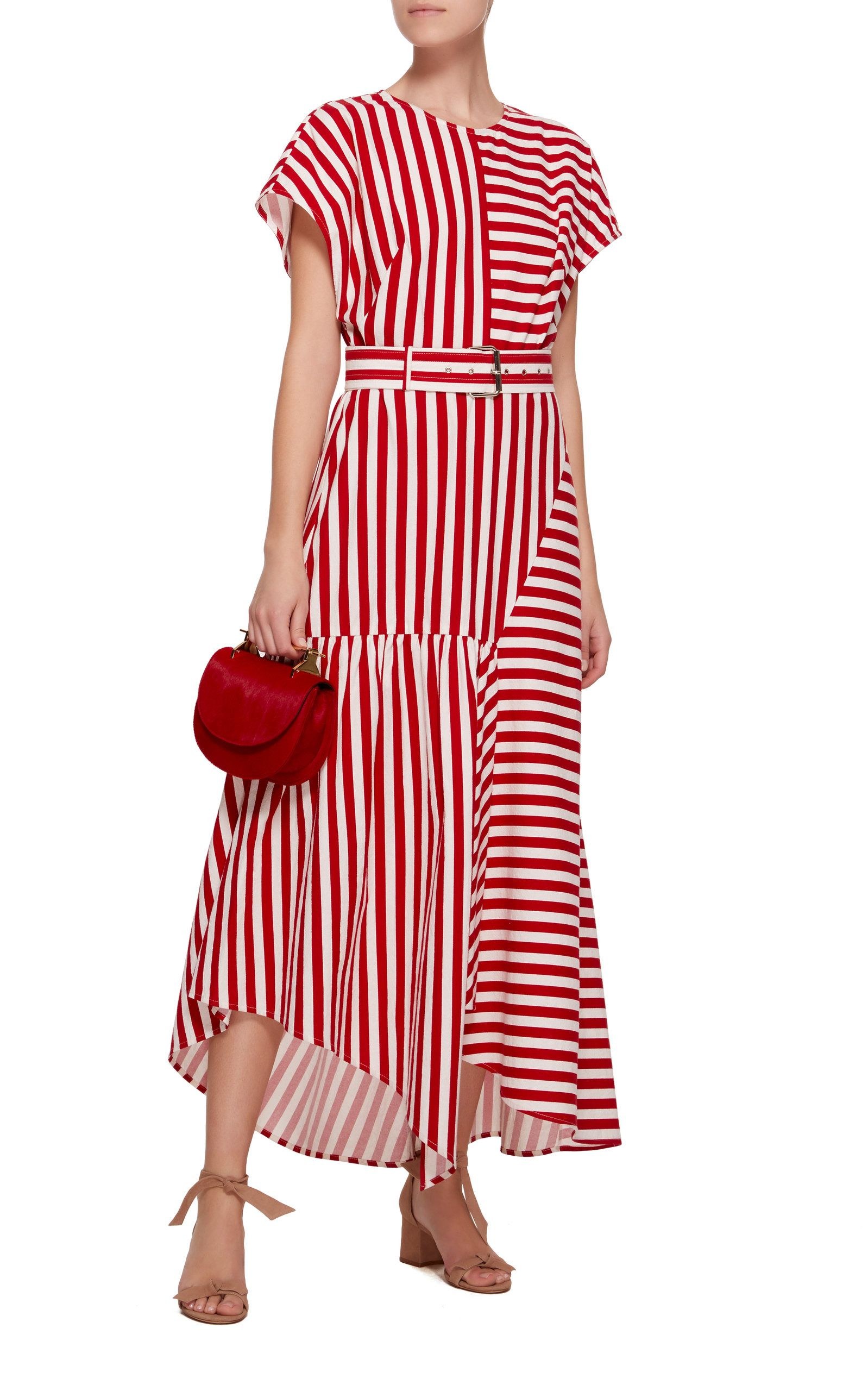 e6e59f50e Rachel Comey Steady Belted Asymmetric Cotton Dress