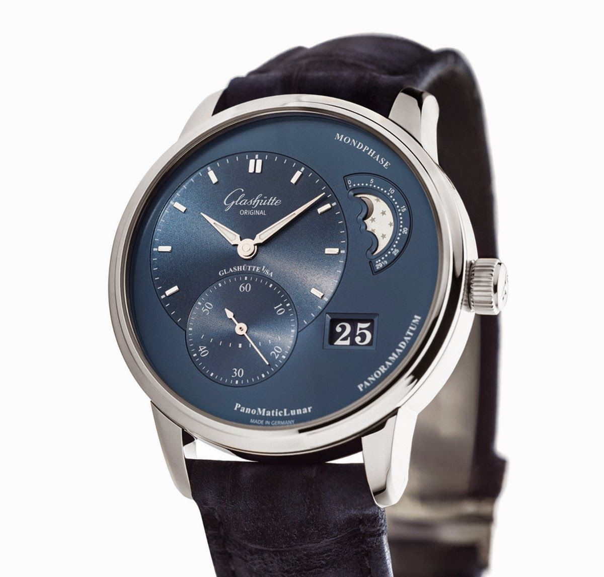 Glashuette Original PanoMaticLunar in steel | Time and Watches