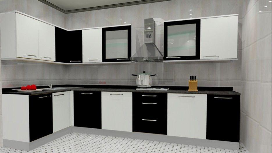 Popularity Of L Shaped Modular Kitchen Designs Black And White L Shaped Modular Kitchen Desi Kitchen Modular L Shaped Kitchen Designs Kitchen Furniture Design