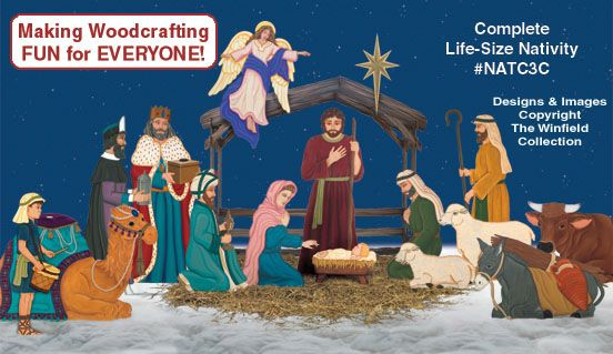 NOEL NATIVITY SIGN GIANT CHRISTMAS WOODWORKING PATTERN,plan,craft yard art