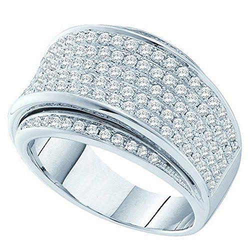 1.27 Carat (ctw) 14K White Gold Round Diamond Ladies Fashion Bridal Anniversary Wedding Band 1 1/4 CT. Crafted in 14K White-gold. Diamond Color / Clarity : H-I / I1-I2. Diamond Weight : 1.27 ct tw. Weights approximately 10.70 grams. Gemstone : Diamond.