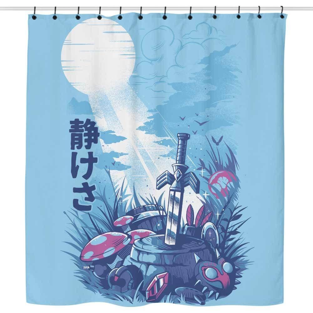 Wildlife Gamer Shower Curtain Legend Of Zelda Wildlife Game Art