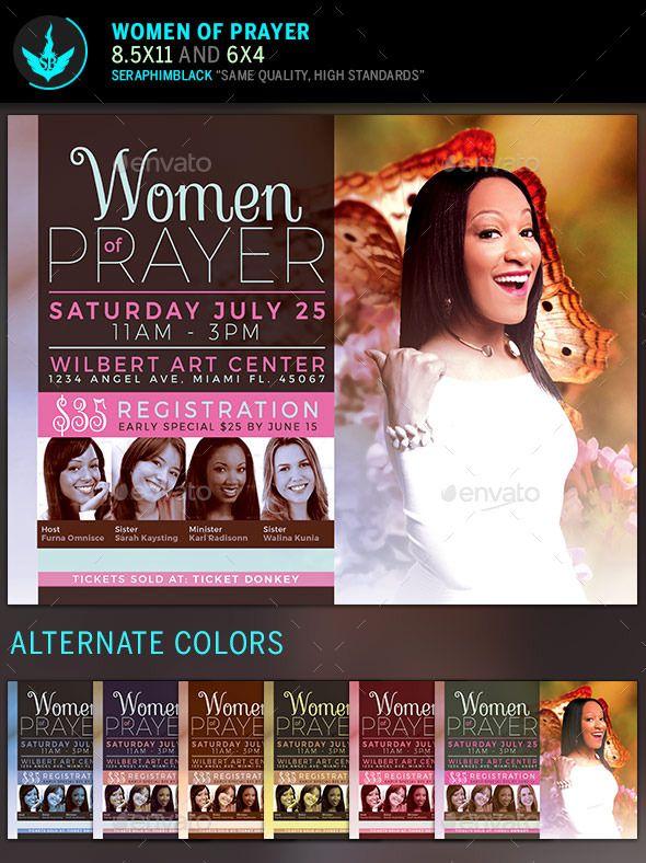 Women of Prayer Church Flyer Template Flyer template, Template - conference flyer template