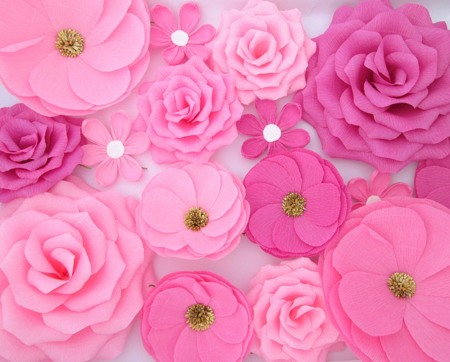 16 Paper Flowers Wall Flowers Arch Flowers Wedding Decoration