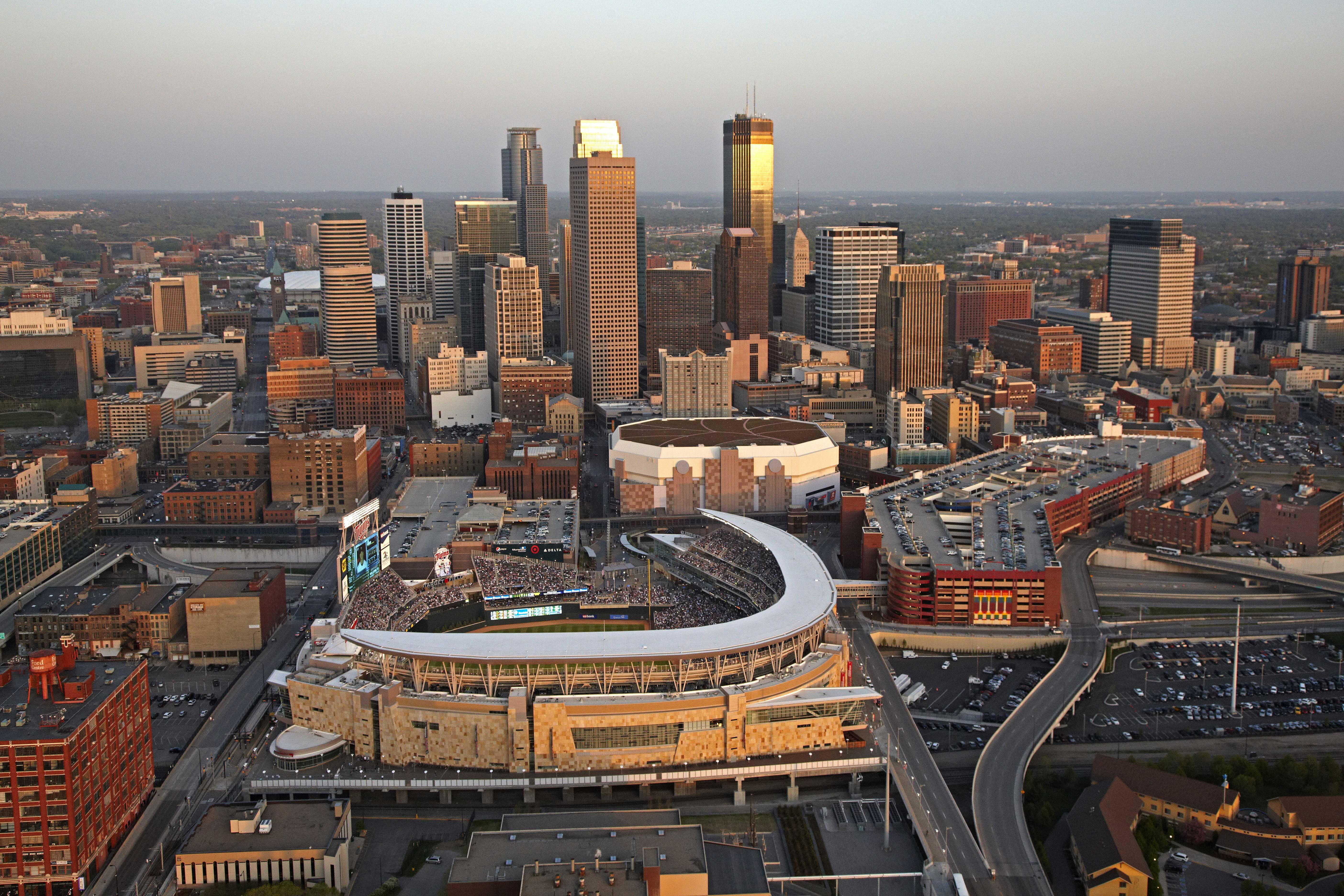 Target Field, home of the Minnesota Twins in Minneapolis ...