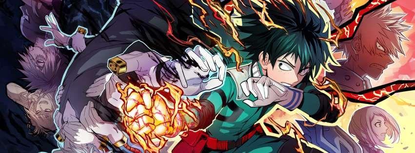 Anime My Hero Academia Izuku Midoriya Katsuki Bakugou Boku No Hero Academia Facebook Cover Anime Wallpaper Iphone Anime Wallpaper Anime