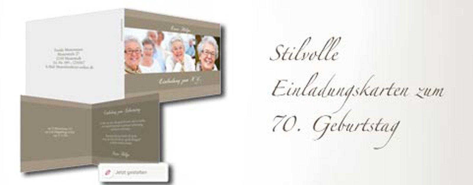 Einladungen Zum 70 Geburtstag Selbst Gestalten: Einladung Zum 70. Geburtstag Selbst Gestalten