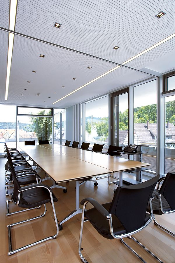 Conference Room Lighting Design: Conference Room Lighting With The Recessed Mounted LED