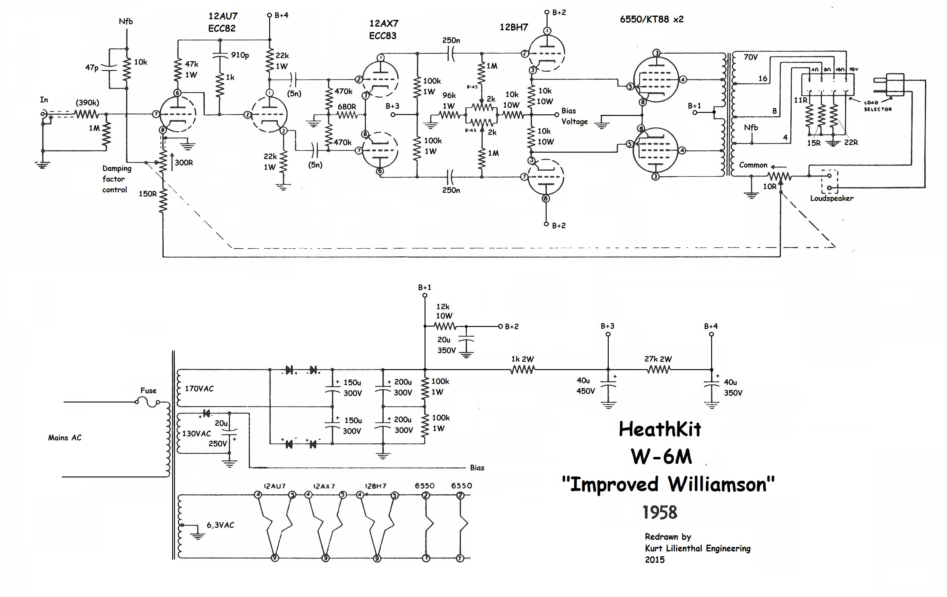 Heath kit W-6M, 6550 PP, ed | Technology 1 in 2019 | Diagram