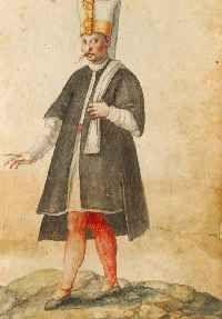 Zeichnungen von Trachten und Gebräuchen aus dem osmanischen Reich, Persien und der Neuen Welt, Norditalien ca. 1570. Digitale Bibliothek der BSB