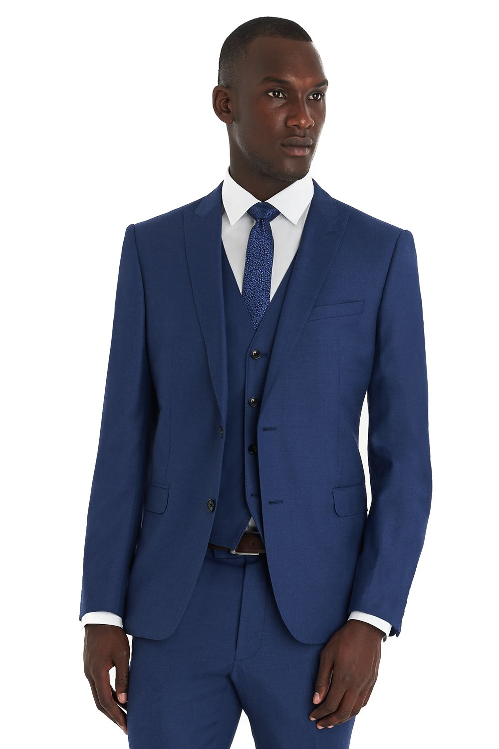 c889c6d2b6b30f French Connection Slim Fit Bright Blue Milled Suit | A Style without ...