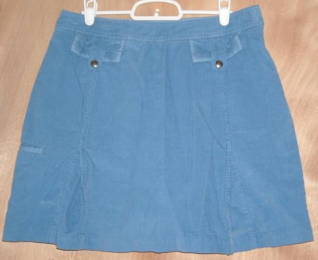 Izod 100% Soft Cotton Turquoise Blue Skort Size 8 Ships Free in the USA