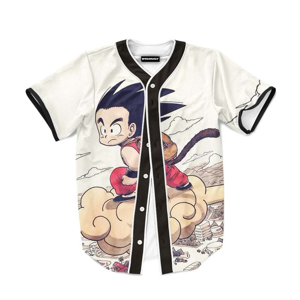 2bb860c4b Flying Cute Kid Goku Cloud Nimbus Vintage Baseball Jersey  Flying  Cute   Kid  Goku  Cloud  Nimbus  Vintage  Baseball  Jersey
