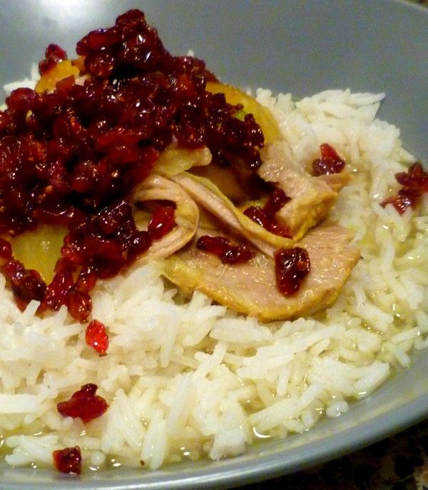 Iran Zereshk Polo Chicken With Saffron And Barberries Mouth - Cuisine iranienne