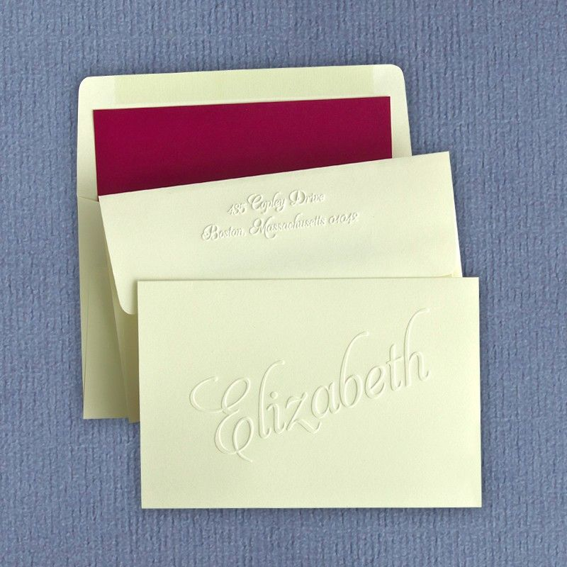 Classic embossed notes from american stationery classic